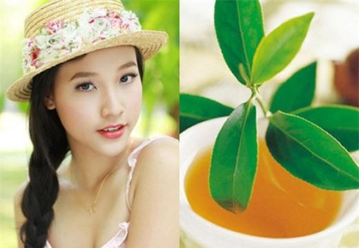 Bí quyết làm đẹp hiệu quả với lá trà xanh - ảnh 1