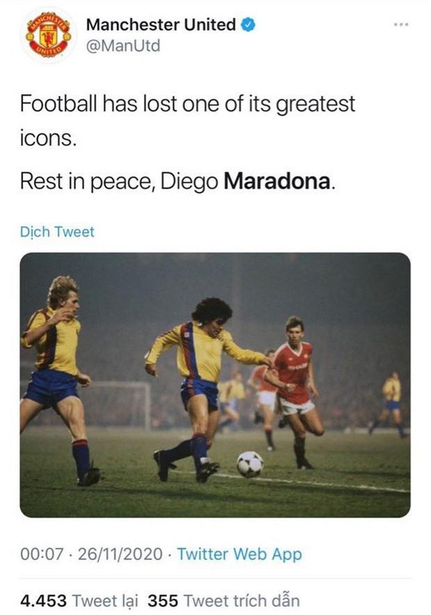 Các ngôi sao thế giới tiếc thương huyền thoại Maradona - Ảnh 4.