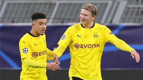 Dortmund bay bổng trên đôi cánh Haaland - Sancho