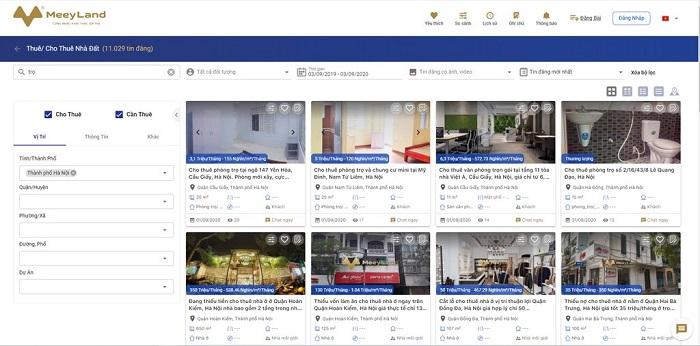 Hiện tại, trên MeeyLand, riêng phần bán nhà đã có tới khoảng 2 triệu tin rao.
