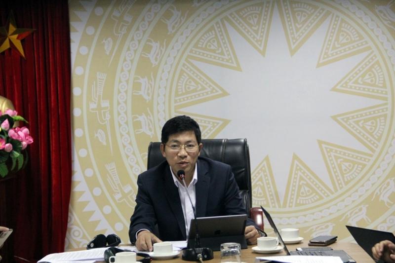Ông Lưu Đình Phúc -  Cục trưởng Cục Phát thanh truyền hình và thông tin điện tử, Bộ Thông tin và Truyền thông phát biểu.