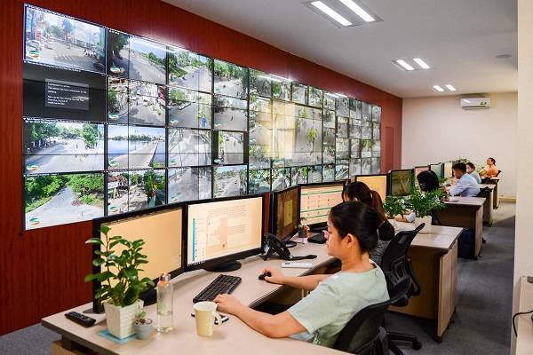 Trung tâm điều hành đô thị thông minh tại TP. Huế do Viettel triển khai.