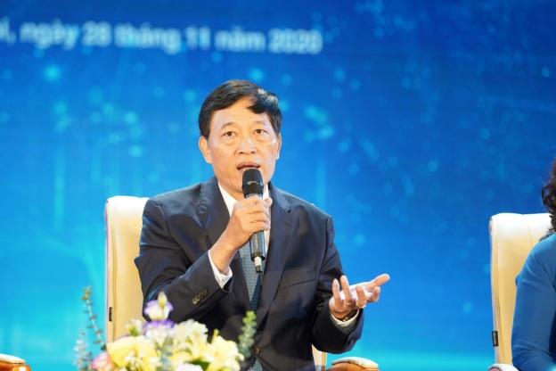 Thứ trưởng Trần Văn Tùng thảo luận về các dự định tương lai của Bộ Khoa học và Công nghệ cho các tập đoàn quốc tế hỗ trợ startup Việt Nam khởi nghiệp.