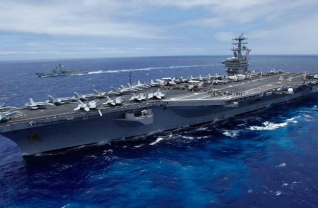Tàu sân bay Mỹ USS Nimitz. Ảnh: Reuters