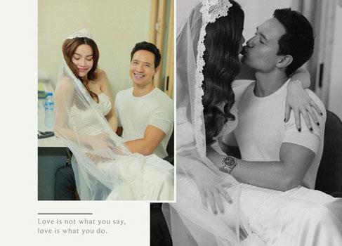 Hồ Ngọc Hà tiết lộ sự thật về bức ảnh hậu trường chụp hình cưới