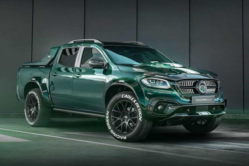 Xe bán tải Mercedes-Benz X-class Racing Green Edition độ phong cách xe đua đẹp mê ly