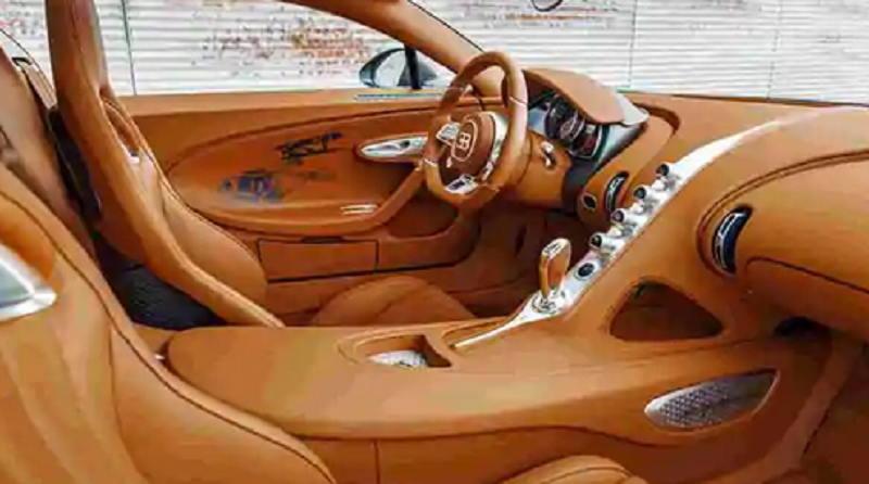 Nội thất của Bugatti Chiron Sport Les Légendes du Ciel