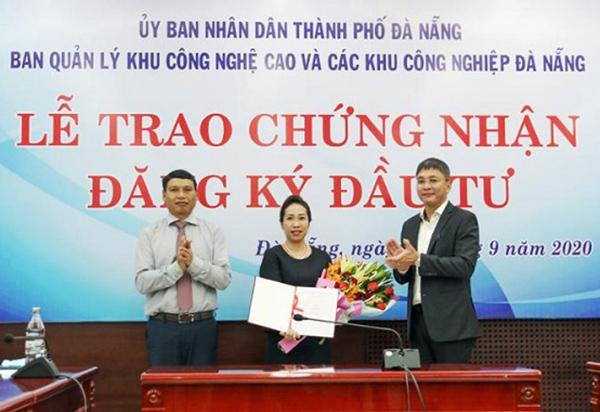 Cấp giấy chứng nhận đầu tư cho dự án xây dựng nhà xưởng cho thuê của Saigontel trong Khu Công nghệ cao Đà Nẵng