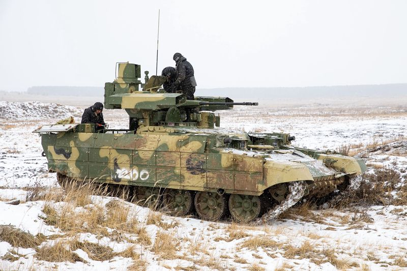 Xe chiến đấu hỗ trợ tăng BMPT Terminator. Ảnh: TASS.