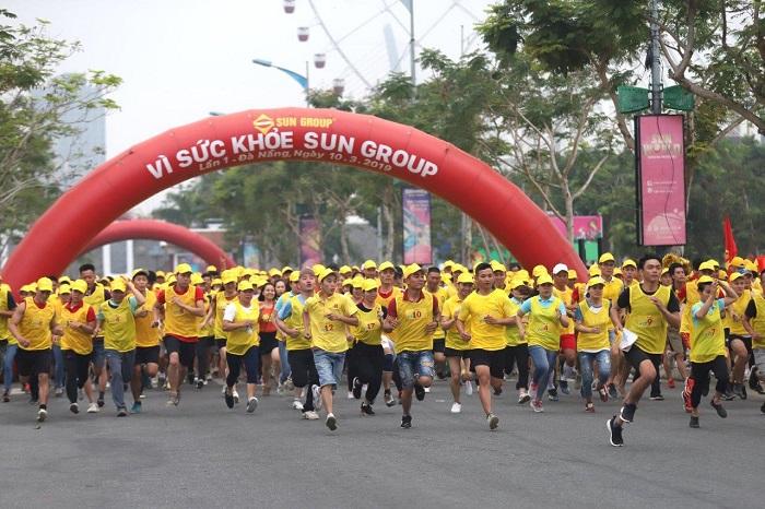 Đường chạy Vì sức khỏe Sun Group tại Đà Nẵng.