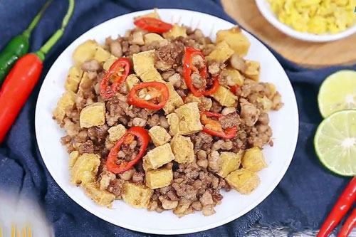 Cực hao cơm với đậu hũ chưng thịt cho ngày mưa lạnh