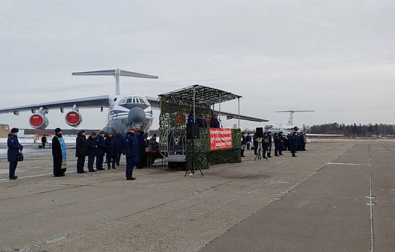 Máy bay vận tải Il-76 của trung đoàn không quân mới. Ảnh: TASS.