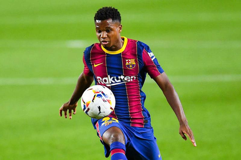 2. Ansu Fati (Barcelona, giá trị hiện tại: 72 triệu bảng, tăng 36 triệu bảng).