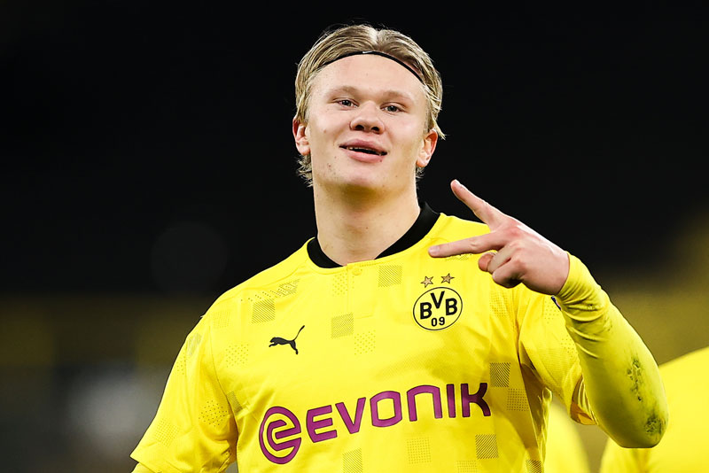 3. Erling Haaland (Borussia Dortmund, giá trị hiện tại: 90 triệu bảng, tăng 31,5 triệu bảng).