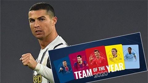 Ronaldo và 10 ngôi sao Bayern được đề cử vào đội hình hay nhất năm của UEFA