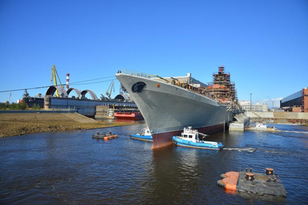 Tuần dương hạm Đô đốc Nakhimov sắp hoàn thành quá trình hiện đại hóa. Ảnh: Military Watch.