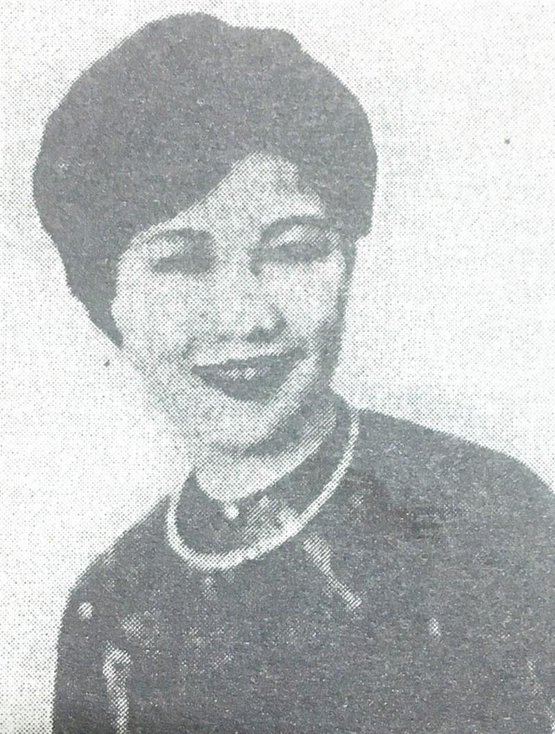Chân dung vũ nữ Lý Lệ Hà, chụp lại từ sách Bảo Đại vị vua cuối cùng trong lịch sử phong kiến Việt Nam.