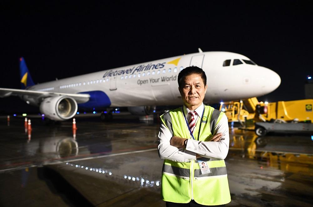 Ông Nguyễn Quốc Kỳ, Chủ tịch Vietravel đang hiện thức hoá ước mơ bay sau 25 năm của mình cùng công ty du lịch lữ hành hàng đầu Việt Nam.