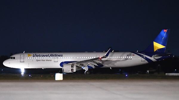 Nhận diện thương hiệu của Hãng hàng không Vietravel Airlines.