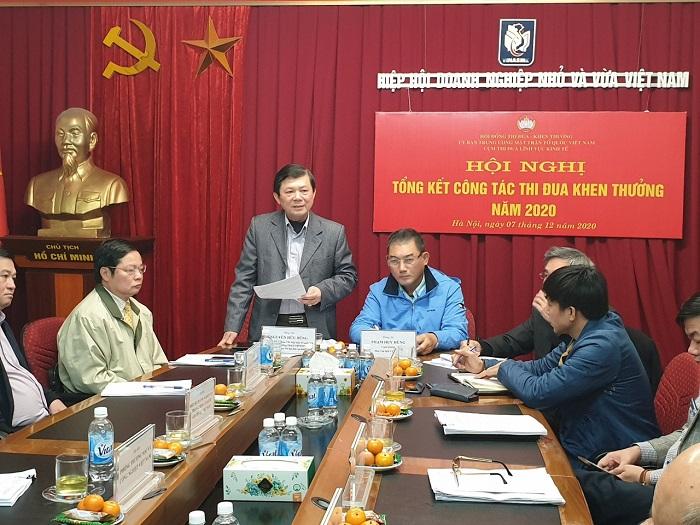 Ông Nguyễn Hữu Dũng – Phó chủ tịch Ủy ban Trung ưng Mặt trận Tổ quốc Việt Nam phát biểu tại hội nghị.