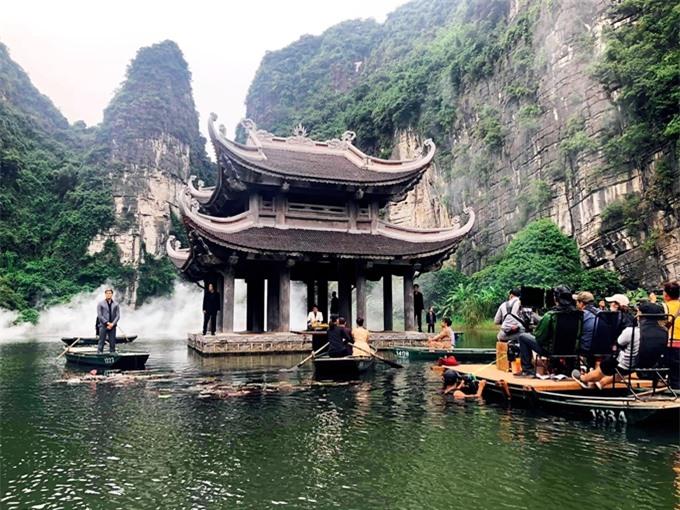 Một phần bối cảnh của phim 578: Phát đạn của kẻ điên tại Tràng An - Ninh Bình.