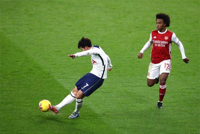 Son Heung-min mở tỷ số cho Tottenham sau 1 cú sút xa tuyệt vời