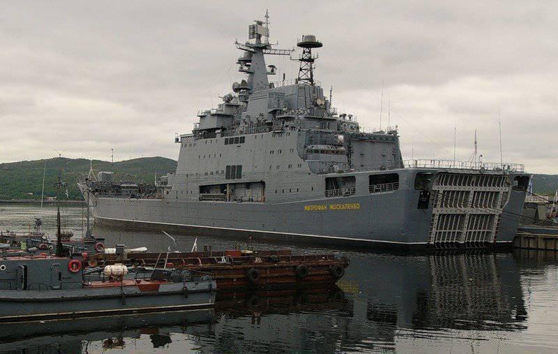 Tàu đổ bộ cỡ lớn Dự án 1174 Mitrofan Moskalenko của Hải quân Nga. Ảnh: Topwar.
