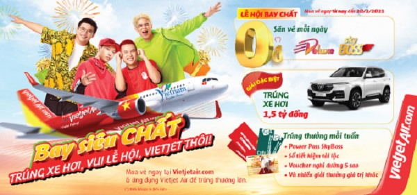 """Bay """"chất"""" cùng Vietjet – Vui lễ hội, trúng xe hơi, chào năm mới."""