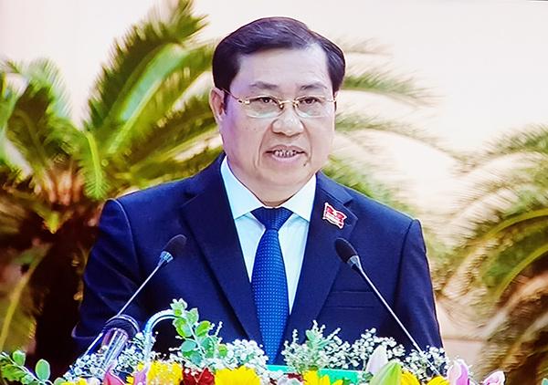 Ông Huỳnh Đức Thơ phát biểu trưa 9/12, tại kỳ họp thứ 16 HĐND TP Đà Nẵng khóa IX