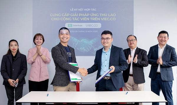 Interloan, Liên minh DTS và Việc Có  tại Thành phố Hồ Chí Minh vừa ký hợp tác phát triển giải pháp ứng lương nhanh cho người lao động khi mua sắm trên chợ phiên online và cộng tác viên trên sàn Viec.co.