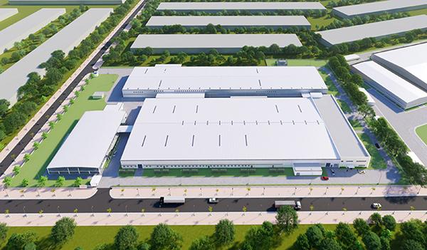 Phối cảnh dự án Nhà máy sản xuất dụng cụ thể thao với vốn đầu tư 40 triệu USD của Công ty TNHH Daiwa Việt Nam tại KCN Hòa Khánh