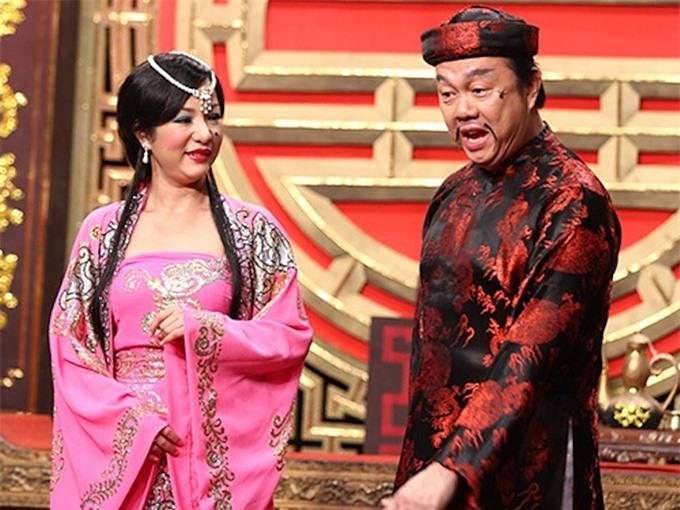 Thúy Nga và Chí Tài từng đóng chung nhiều vở kịch.