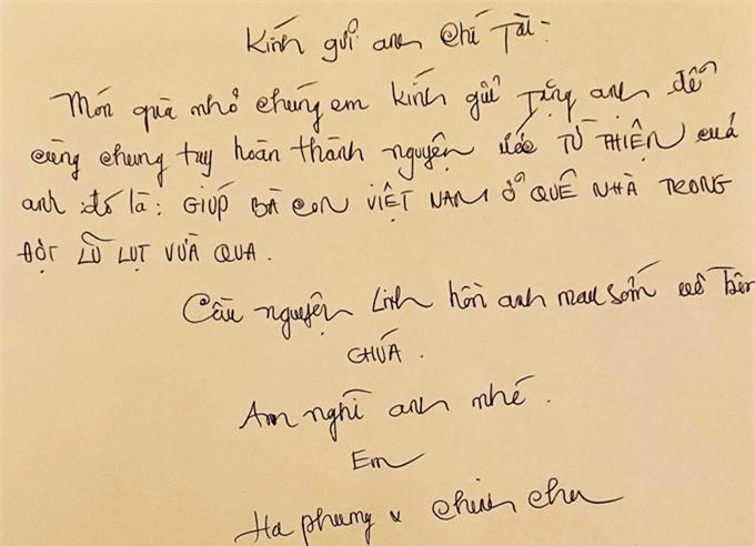 Lời nhắn nhủ của vợ chồng ca sĩ Hà Phương đến người anh quá cố.