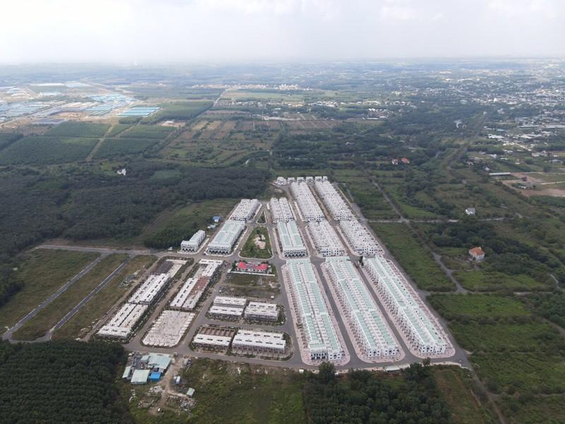 Hàng trăm căn nhà tại dự án khu dân cư Tân Thịnh mà LDG Group xây dựng khi chưa đủ điều kiện để được xây.