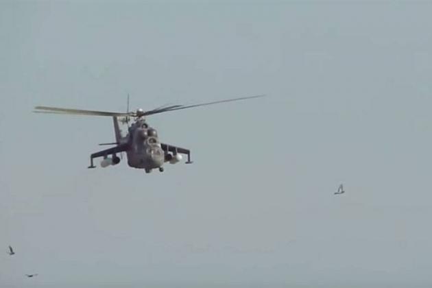 Trực thăng vũ trang Nga hoạt động tại Syria. Ảnh: Avia-pro.
