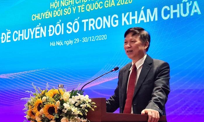 PGS. TS Trần Quý Tường - Cục trưởng Cục CNTT, Bộ Y tế trình bày tại Hội thảo chuyên đề.