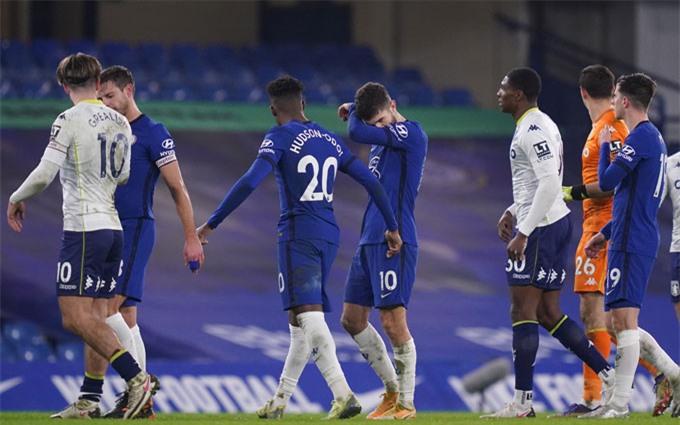 Chelsea tiếp tục gây thất vọng sau trận hòa 1-1 với Aston Villa