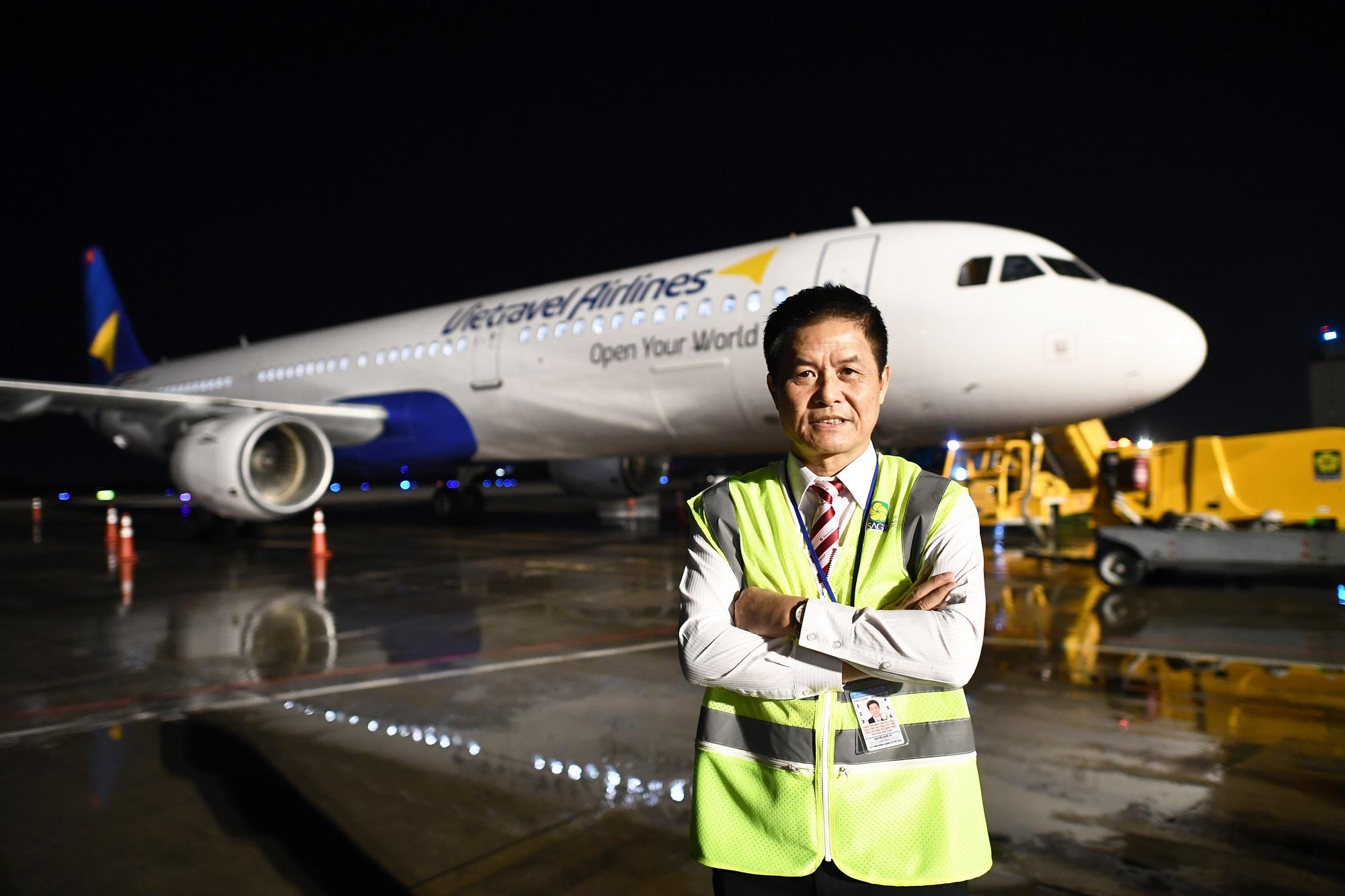 """Ông Nguyễn Quốc Kỳ bước đầu hoàn thành giấc mơ bay cùng Vietravel Airlines và đang tiếp tục cùng cộng sự """"chắp cánh"""" để hãng bay cao, bay xa."""