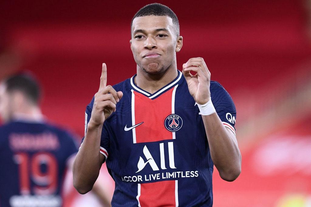 5. Kylian Mbappe (PSG, 135 triệu bảng).