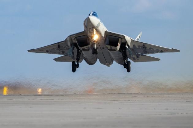 Tiêm kích tàng hình Su-57 Felon của Không quân Nga. Ảnh: Avia-pro.