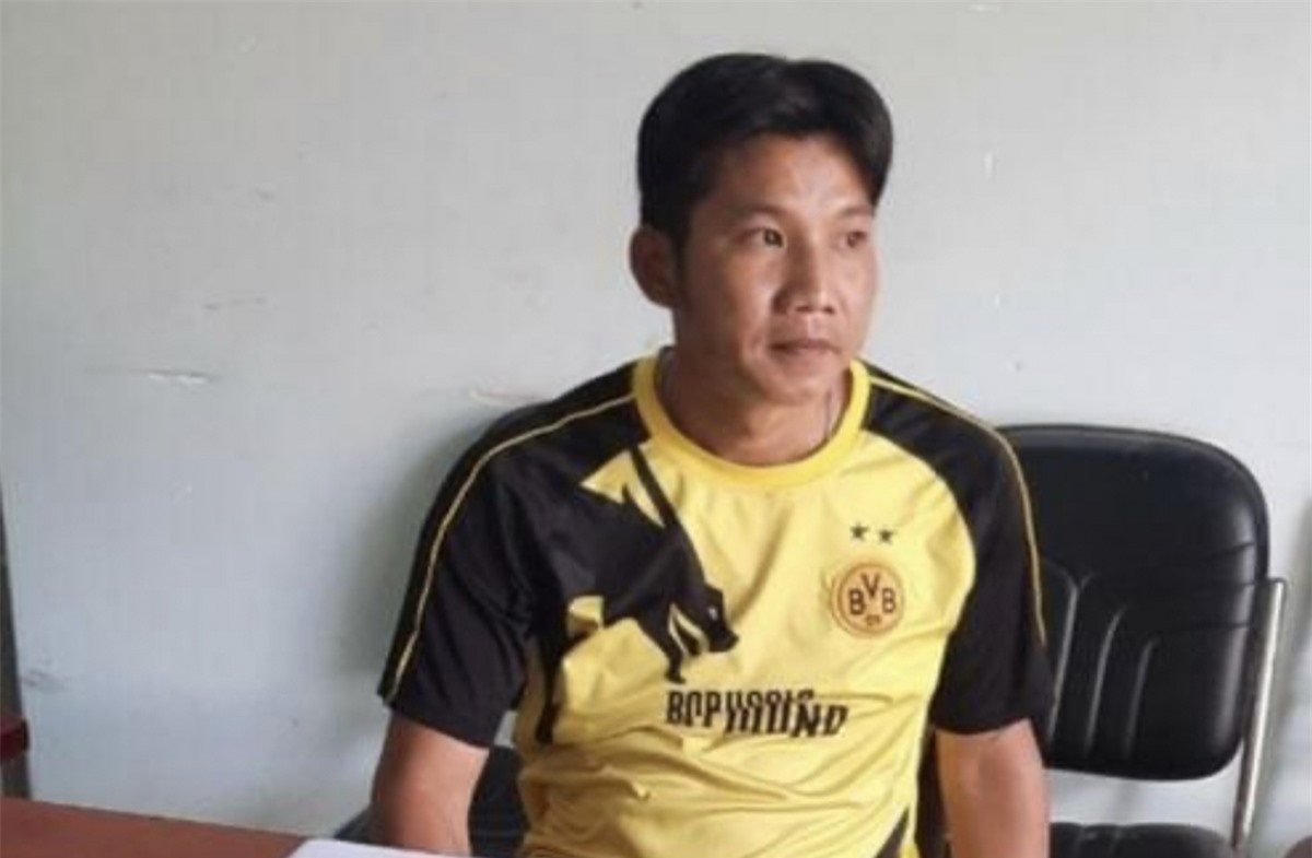 Nguyễn Văn Bé tại cơ quan công an.