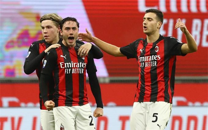 Calabria gỡ hòa 1-1 ở phút 41 trận Milan vs Juventus