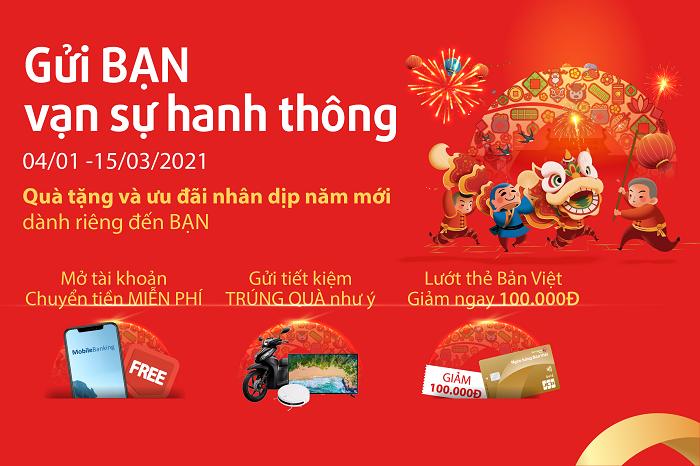 Gửi BẠN vạn sự hanh thông - Chương trình khuyến mại hấp dẫn từ Bản Việt gửi tặng khách hàng dịp năm mới.