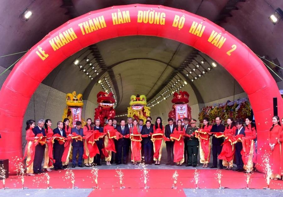 Lễ cắt băng khánh thành công trình hầm đường bộ Hải Vân 2.