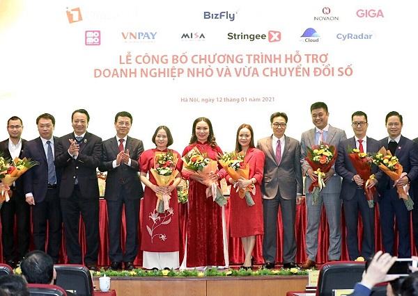 12 nền tảng số xuất sắc đầu tiên Make in Việt Nam tham gia sáng kiến hỗ trợ doanh nghiệp nhỏ và vừa chuyển đổi số.