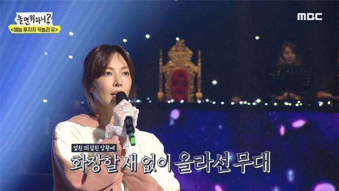 Ác nữ Penthouse Kim So Yeon hé lộ lý do để mặt mộc đi show hát giấu mặt - Ảnh 3.