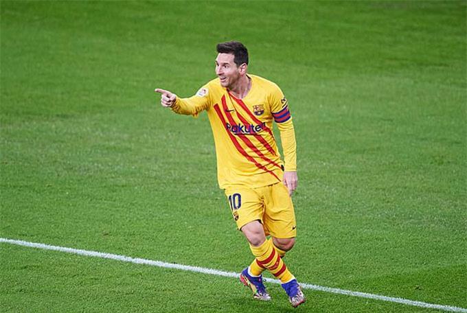 Messi thoải mái và lập tức nổ súng ầm ầm trở lại