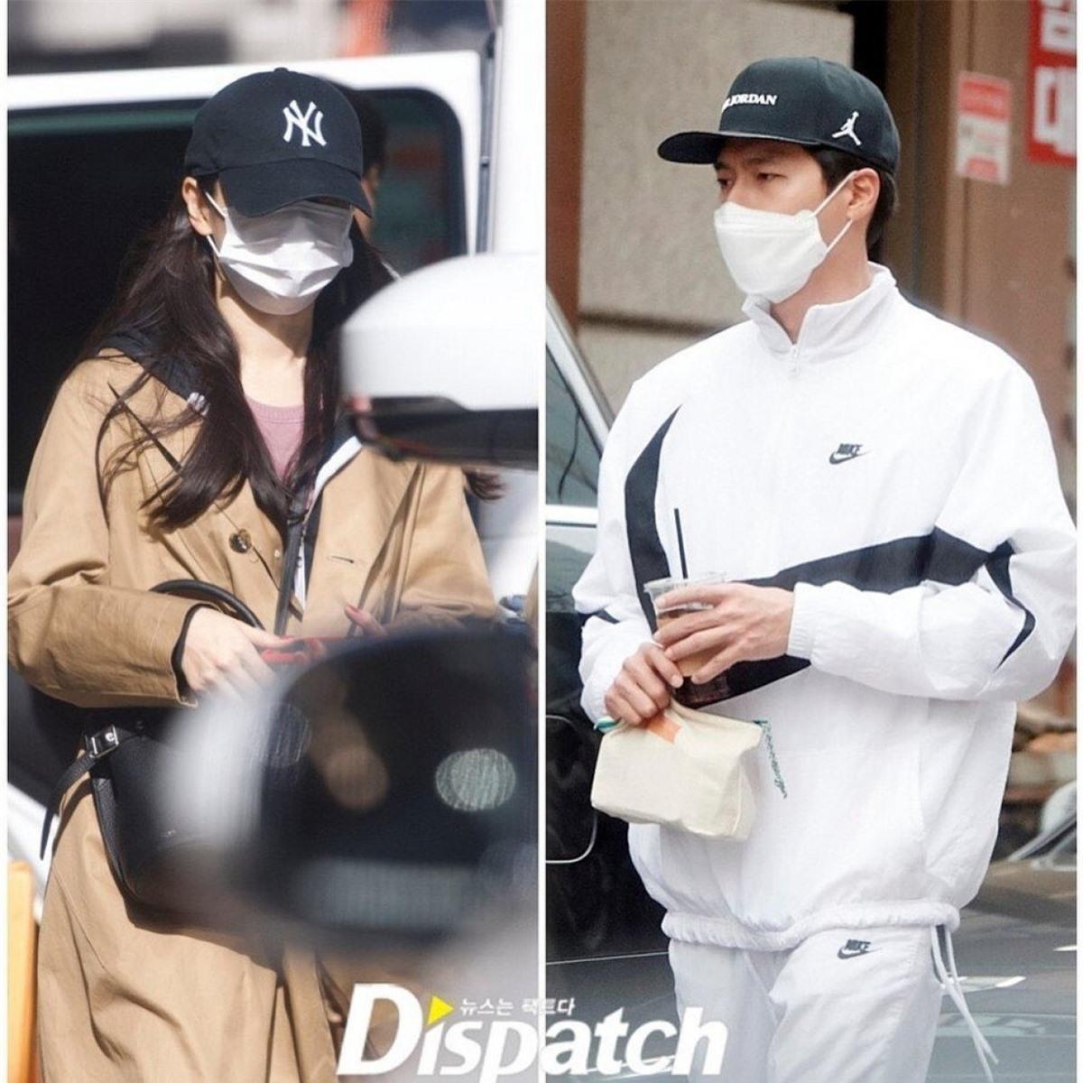 Hình ảnh mới đây của cặp đôi 'BinJin' cùng đi tập thể thao.