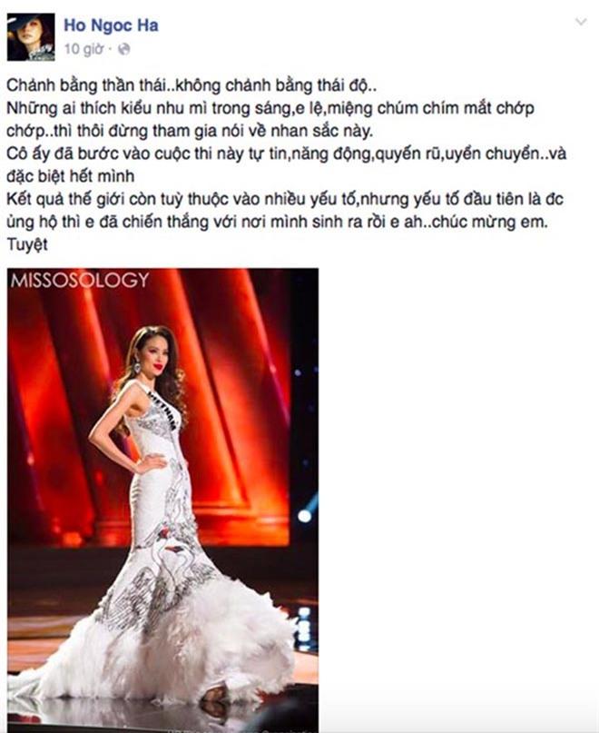 Vẻ gợi cảm của hai hoa hậu Việt có sức hút đặc biệt trong mắt Hồ Ngọc Hà - Ảnh 1.
