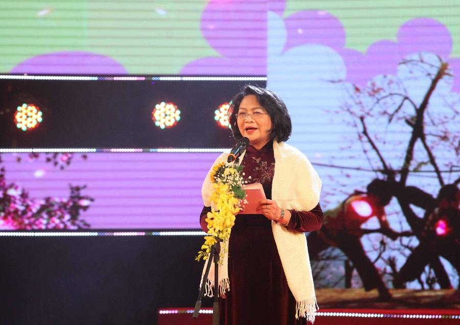 Phó Chủ tịch Nước Đặng Thị Ngọc Thịnh phát biểu tại chương trình.